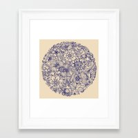 circle Framed Art Prints featuring Circle of Friends by micklyn