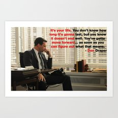 Wise Words from Don Draper Art Print