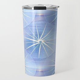 Paper Parasols (blue) Travel Mug