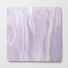 Marblesque Lavender 1 - Abstract Art Marble Series by Jennifer Berdy Metal Print