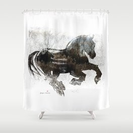 Horse (Winter Canter) Shower Curtain