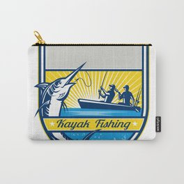 Kayak Fishing Blue Marlin Badge Carry-All Pouch