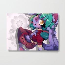 Lil Bat Poke Metal Print