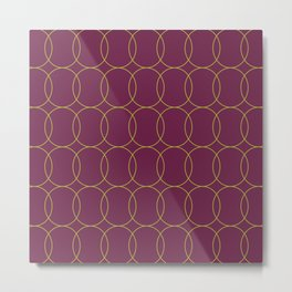 Fly Home Collection-  Circle Pattern Deep Red Violet  Metal Print