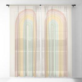 Gradient Arch - Rainbow IV Sheer Curtain