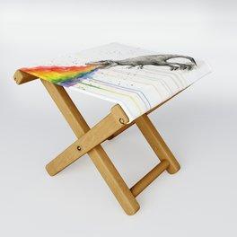 T-Rex Rainbow Puke Folding Stool