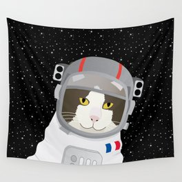 1963: France Blasted the First Cat into Outer Space Wall Tapestry