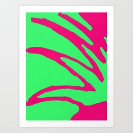 Green Pink Pattern Art Print