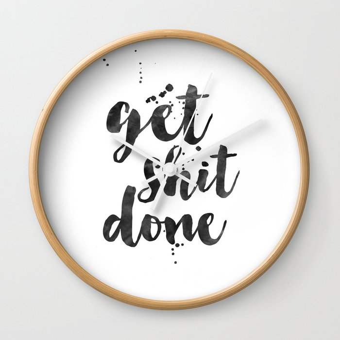 GET SHIT DONE, Motivational Poster,Motivational Quote,Office Wall Art,Office  Sign