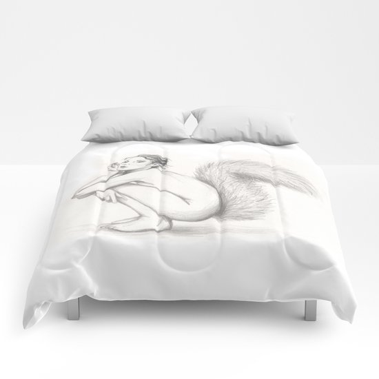 be like the squirrel, girl Comforters