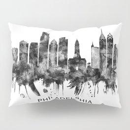 Philadelphia Pennsylvania Skyline BW Pillow Sham