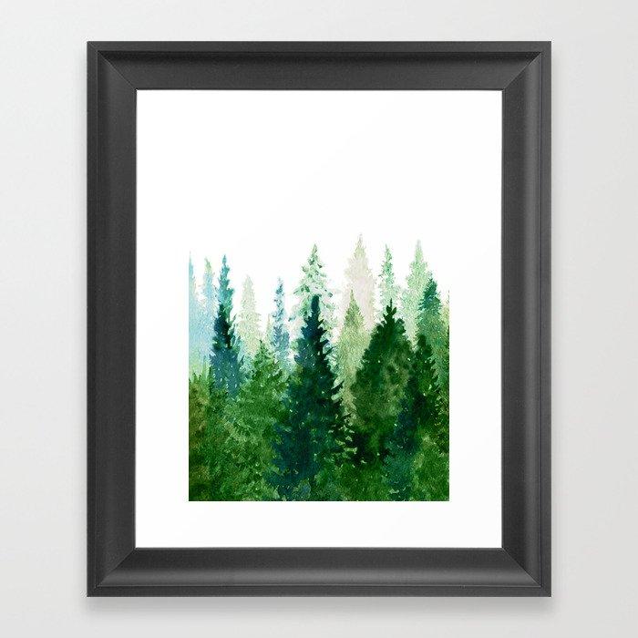 Pine Trees 2 Gerahmter Kunstdruck