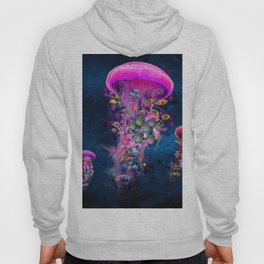 Floating Electric Jellyfish Worlds Hoody