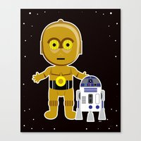 c3po Canvas Prints featuring C3PO by Jasmine Victoria