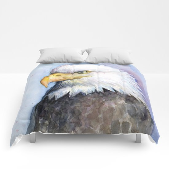 Bald Eagle Watercolor Bird Wildlife Animals Comforters