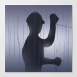 If you're Home Alone, showering... Canvas Print