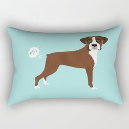 Boxer funny fart dog pure breed gifts dog lovers Rectangular Pillow