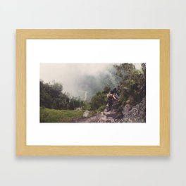 At the top Framed Art Print