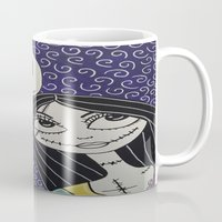 jack skellington Mugs featuring Jack Skellington and Sally by KittyOG