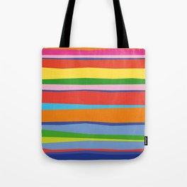 Bright Colorful Maritime Stripes Tote Bag