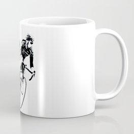 Bicycle racers into the curve... Coffee Mug