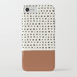 Burnt Orange x Dots iPhone Case
