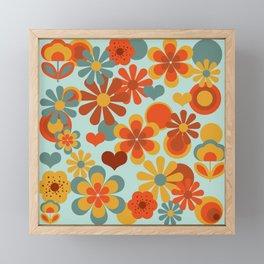 70's Flower Power Framed Mini Art Print