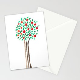 Orange Tree Watecolor Stationery Cards