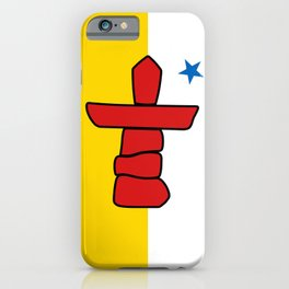 Nunavut territory flag iPhone Case