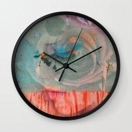lavender, blue & peach portrait Wall Clock