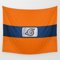naruto Wall Tapestries featuring NARUTO BANDANA HEADBAND by BeautyArtGalery