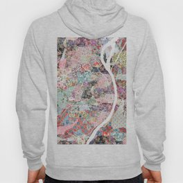 Saint Louis map flowers Hoody