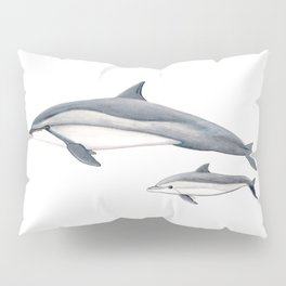 Long-beaked dolphin and baby Pillow Sham