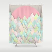 arnold Shower Curtains featuring Forest Pastel by dogooder