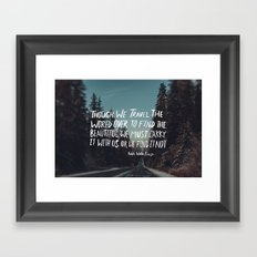 Road Trip Emerson Framed Art Print