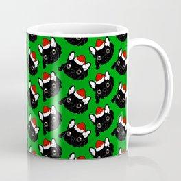 Brindle Frenchie loves Christmas season Coffee Mug