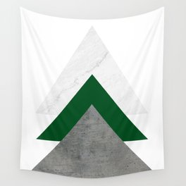Marble Green Concrete Arrows Collage Wall Tapestry