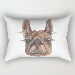 Asher the Wonder Llama - artist Ellie Hoult Rectangular Pillow