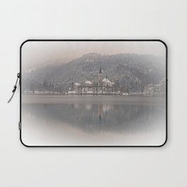 Wintry Bled Island Laptop Sleeve
