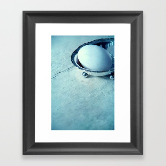 white egg Framed Art Print