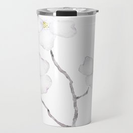 white dogwood flower watercolor Travel Mug