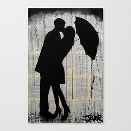 rainy day romantics Canvas Print