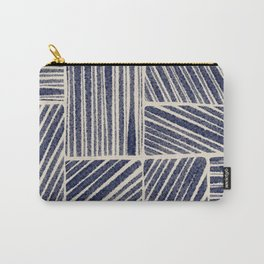 Navy Blue Striped Pattern #3 Carry-All Pouch