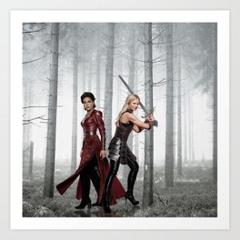 SwanQueen Enchanted Forest Art Print