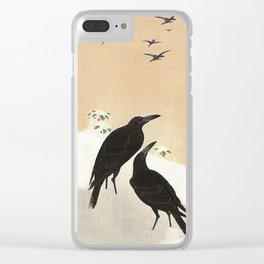 Crows from Koson Clear iPhone Case