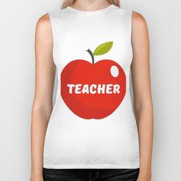 Teachers Apple Biker Tank