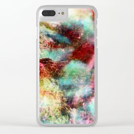 Passionate Flowers Clear iPhone Case