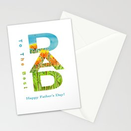 Gift for the best dad Stationery Cards