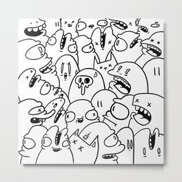 Doodle bomb Metal Print