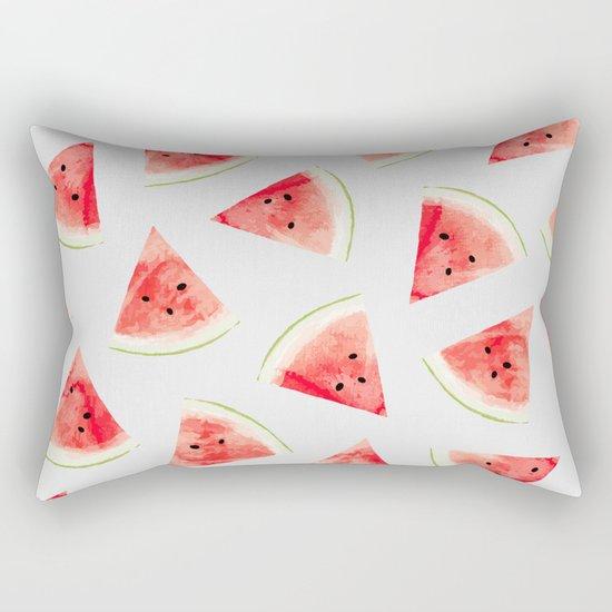 Watercolor Watermelon Pattern #society6 #buyart #decor Rectangular Pillow
